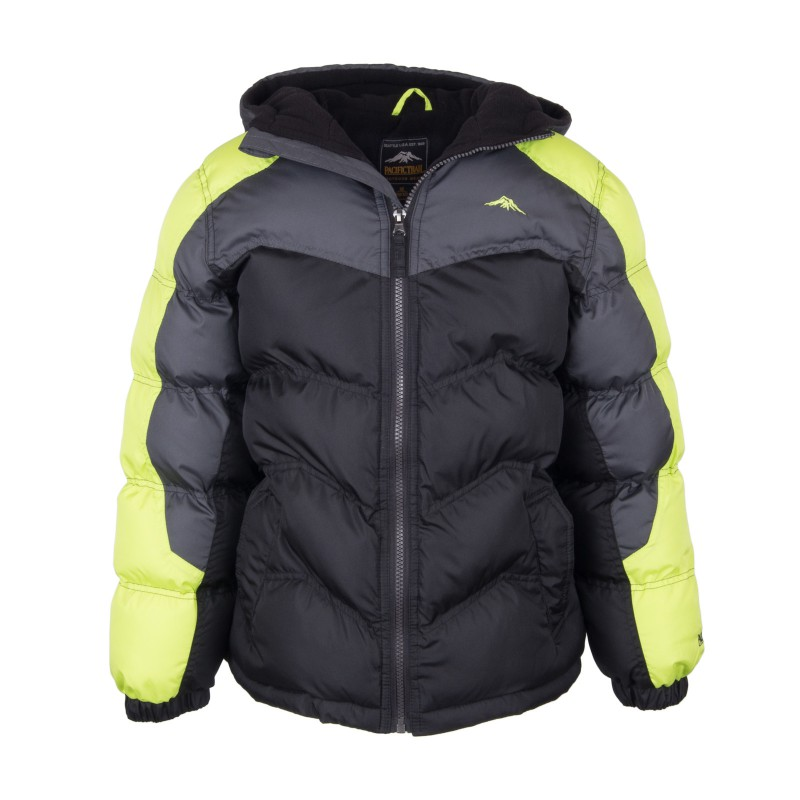 11ed4eb04 Heavy Weight Color Blocked Puffer Jacket with Fleece Lining Style# 25F53115